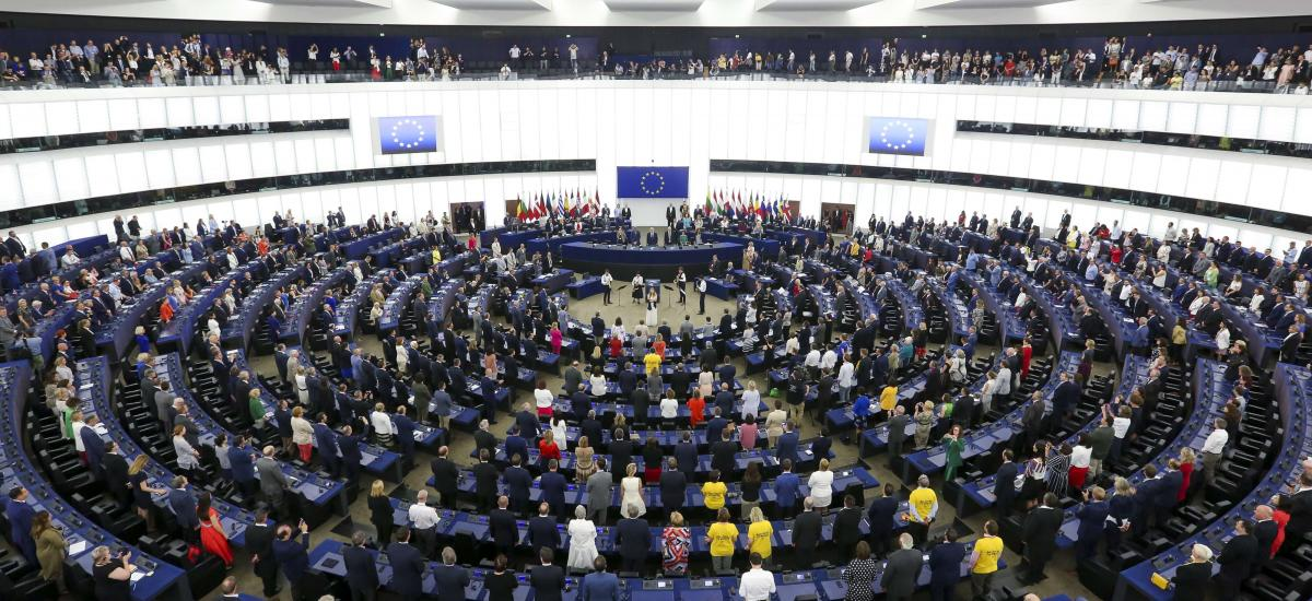 A general view of the opening session of the new European Parliament. Photo: Fred Marvaux/EU Parliament/dpa