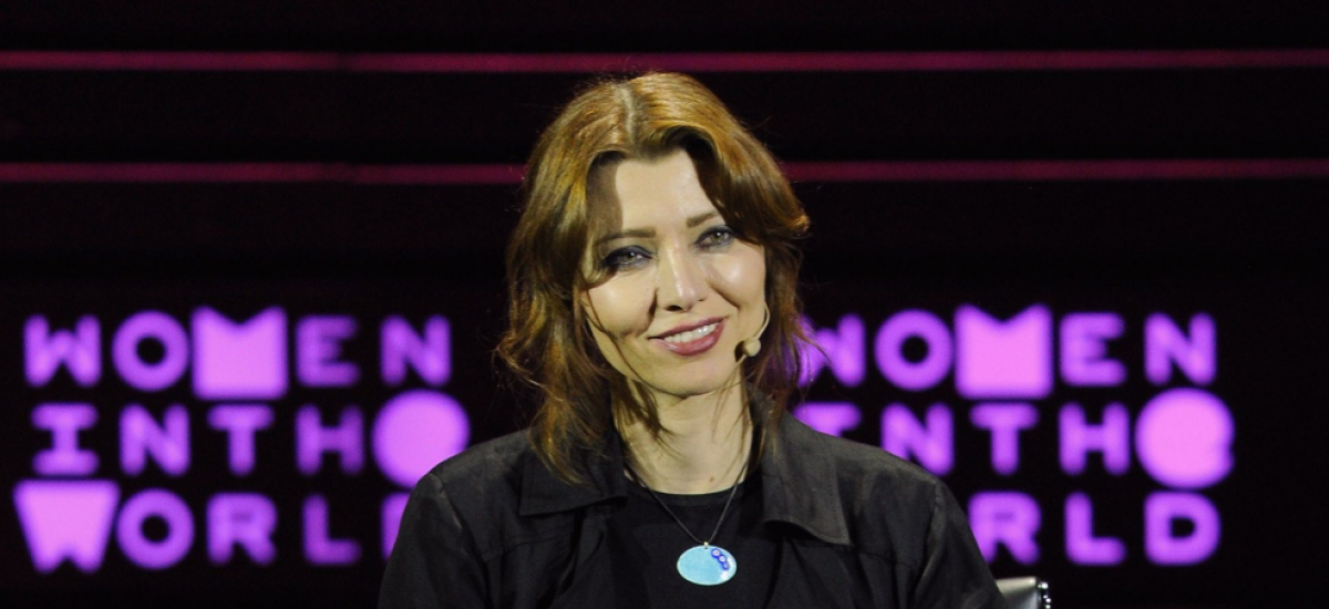 Author Elif Shafak speaks on stage during the Women In The World Summit held in New York on April 24, 2015 in New York City. Andrew Toth/Getty
