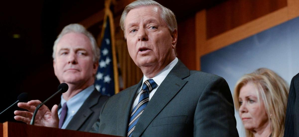 U.S. Senators Chris Van Hollen and Lindsey Graham