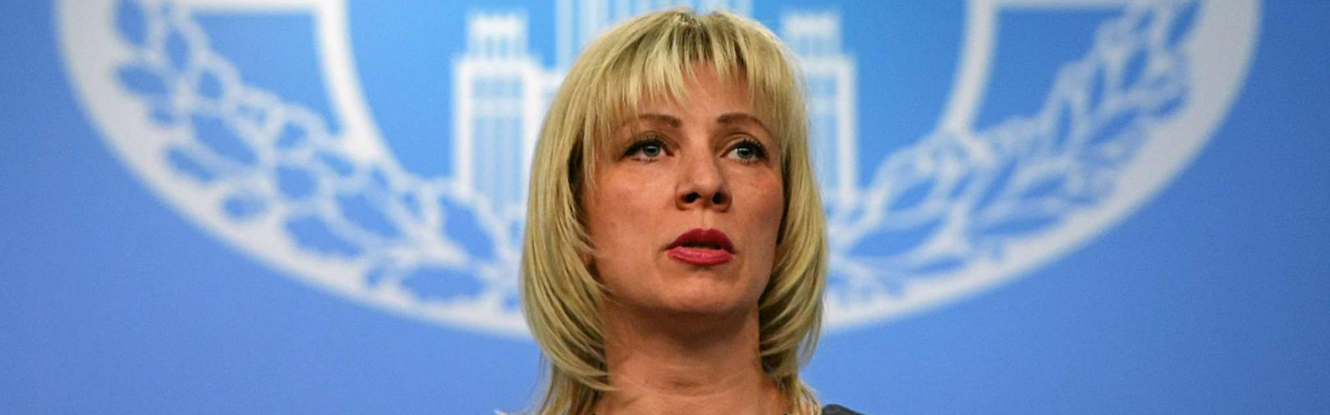 Russian Foreign Ministry spokeswoman Maria Zakharova speaks to the media in Moscow on March 29, 2018. (AFP)