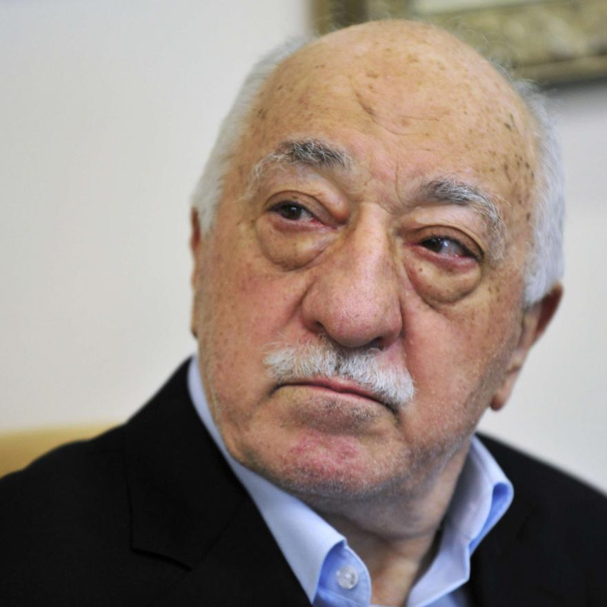 In this July 2016 file photo, Islamic cleric Fethullah Gulen speaks to members of the media at his compound, in Saylorsburg, Pa. AP/Chris Post