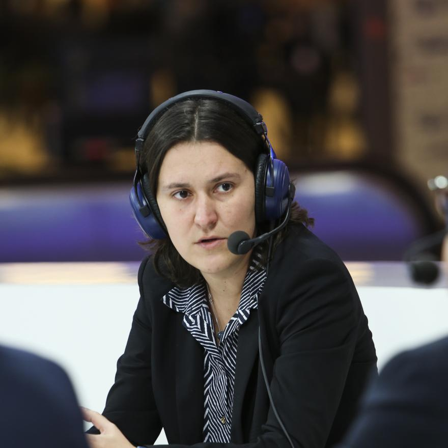 Kati PIRI, MEP, Netherlands speaks during a Citizens' Corner live debate on fighting corruption in the EU at the European Parliament in Brussels on December 2, 2014. Euranet Plus / Wikimedia